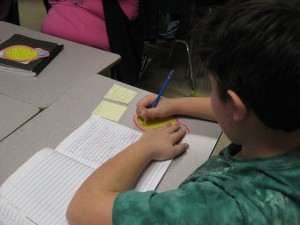 Student Reflecting on Reading Response Journal